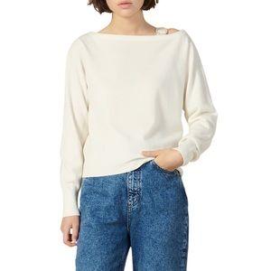 Sandro Night Wool & Cashmere Boat Neck Sweater